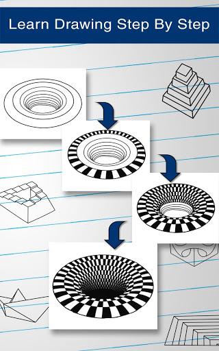 How to Draw 3D 14 تصوير الشاشة