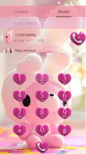 Cute Bear Theme Pink Bow Bear screenshot 3
