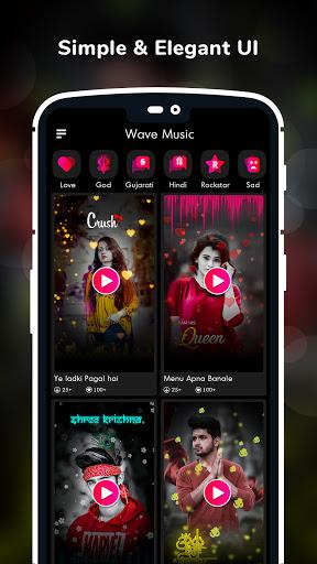 Wave Music : Particle.ly Video Status Maker 2 تصوير الشاشة