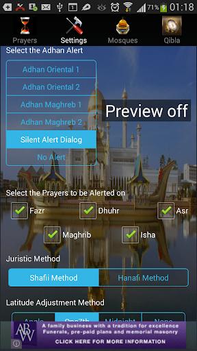 iAzan Prayer Time Mosque Qibla screenshot 3