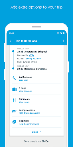 KLM – Book flights and manage your trip screenshot 3