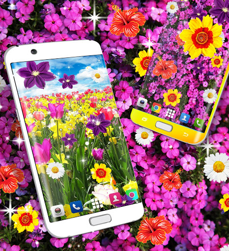 Flowers live wallpaper 8 تصوير الشاشة