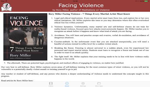 Facing Violence / Rory Miller screenshot 2