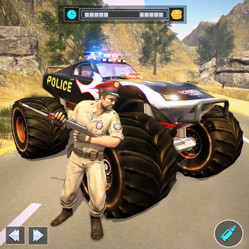 US Police Monster Truck Gangster Car Chase Games