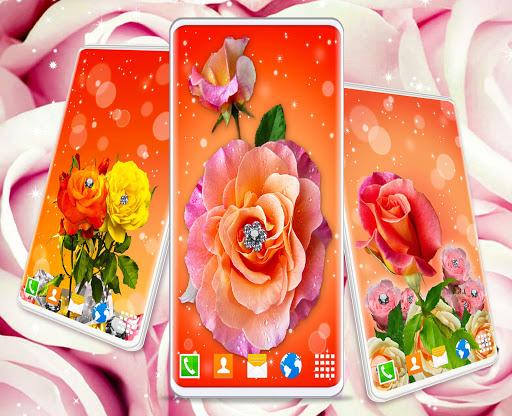 Diamond Rose Live Wallpaper ❤️ Shine HD Wallpapers 8 تصوير الشاشة