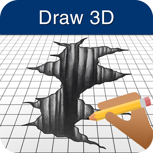 How to Draw 3D أيقونة