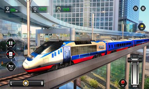 Police Train Shooter Gunship Attack : Train Games screenshot 2
