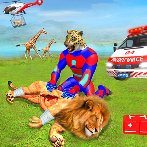Superhero Animals Robot Rescue Mission icon