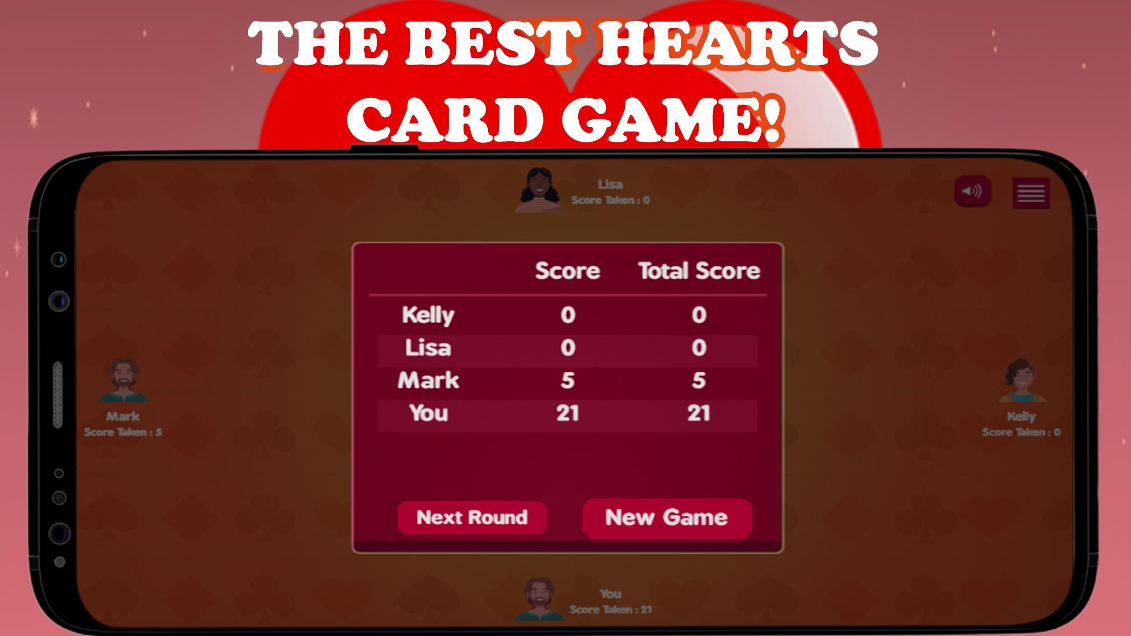 Hearts Card Game - Free Offline | no wifi required 3 تصوير الشاشة