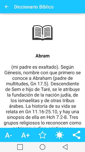 Spanish Bible Dictionary 13 تصوير الشاشة