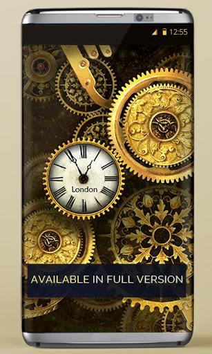 FREE Gold Clock Live Wallpaper 7 تصوير الشاشة