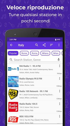 Radio FM: Stream stazioni live screenshot 2