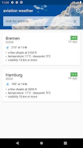 Aviation weather (METAR / TAF) screenshot 1