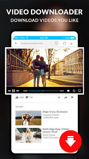 HD Video player - Video Downloader 1 تصوير الشاشة