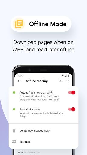 Opera Mini - fast web browser screenshot 4