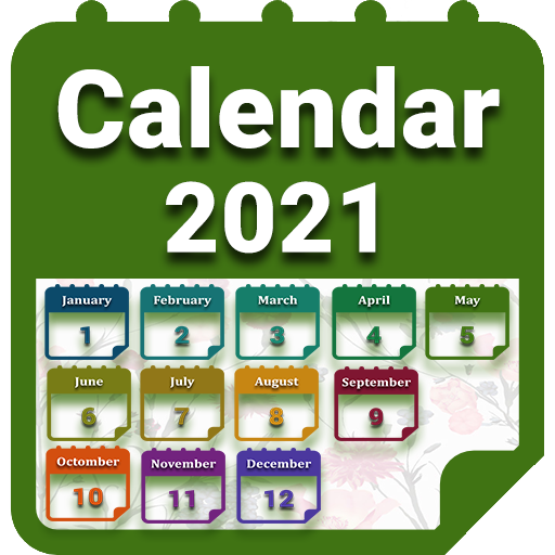 Calendar 2021 with Holidays أيقونة