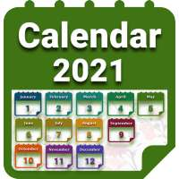 Calendar 2021 with Holidays on APKTom
