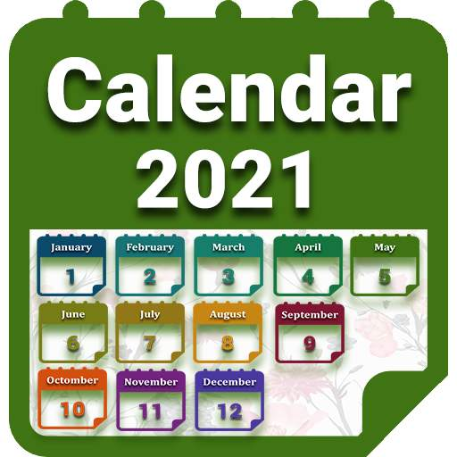 Calendar 2021 with Holidays