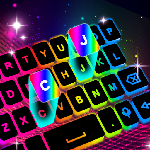 نيون بقيادة لوحة المفاتيح - ألوان الإضاءة RGB أيقونة