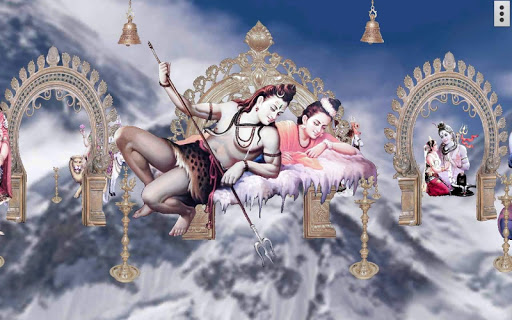 4D Shiv Parvati Live Wallpaper screenshot 4