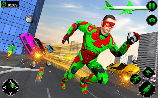 Light Robot Superhero Rescue Mission screenshot 3
