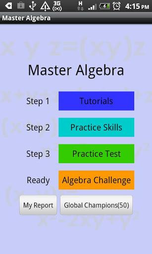 Master Algebra Lite screenshot 1