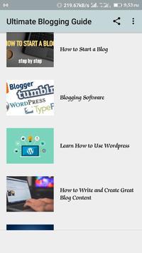 Blogging Guide screenshot 1