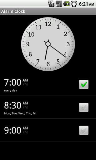 Clock save battery, time, alarm 2 تصوير الشاشة