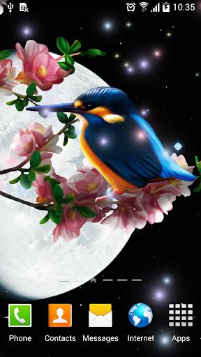 Sakura and Bird Live Wallpaper screenshot 5