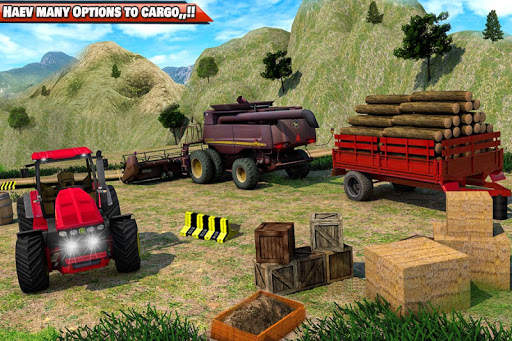 Drive Tractor trolley Offroad Cargo- Free 3D Games screenshot 3