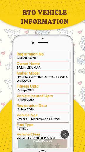 RTO Vehicle Information & Vehicle Price Check App screenshot 6