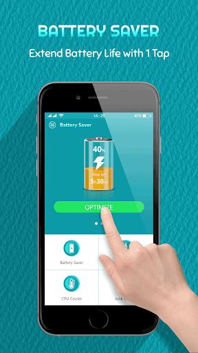Battery Saver, Fast Charging & Phone Cleaner 1 تصوير الشاشة