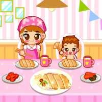 엄마와 함께 돈까스를 - 요리게임 on APKTom