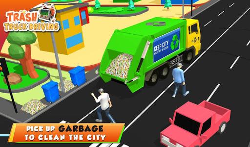 Urban Garbage Truck Driving - Waste Transporter screenshot 9