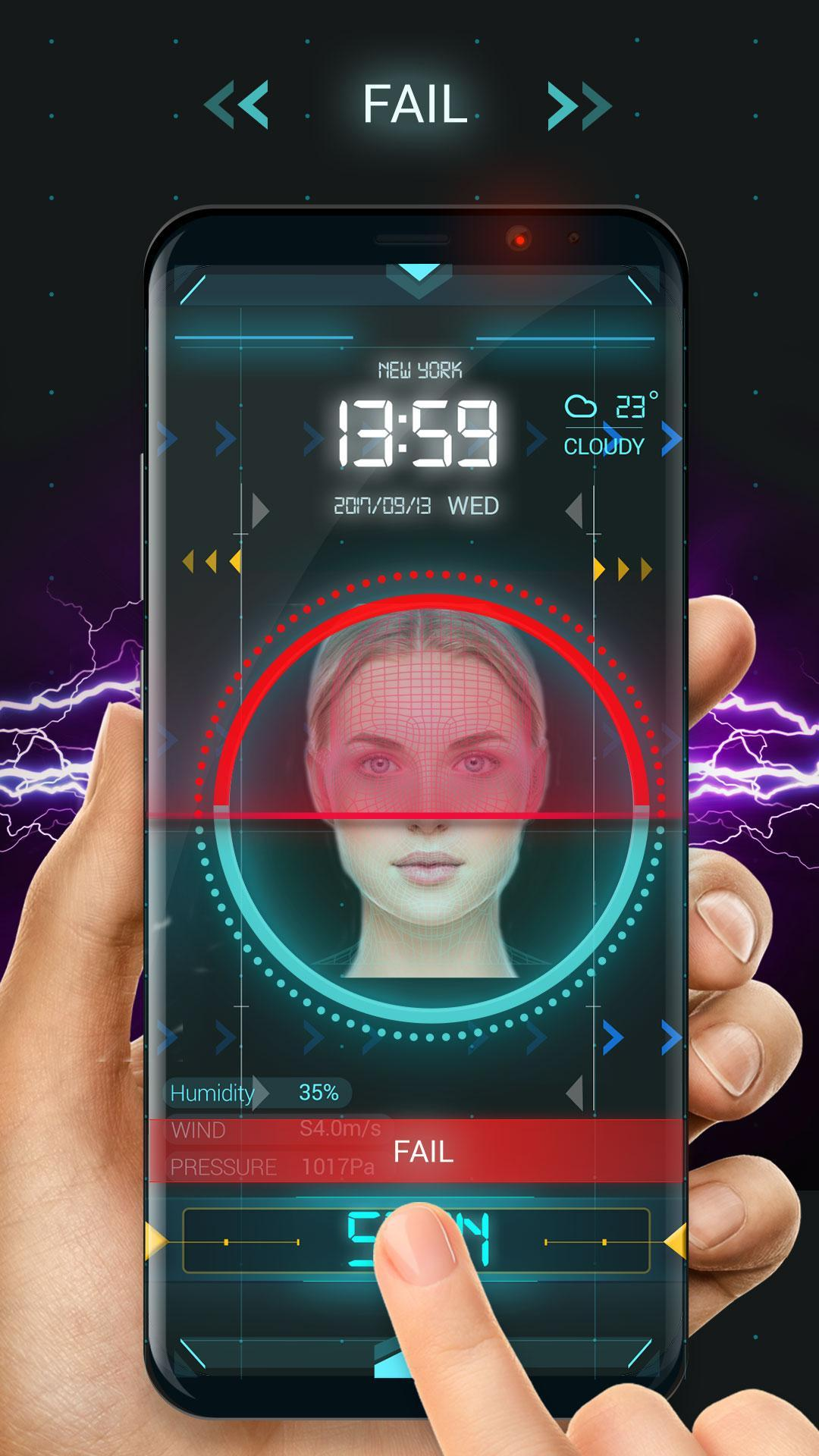 Face detection style lock screen for prank screenshot 4