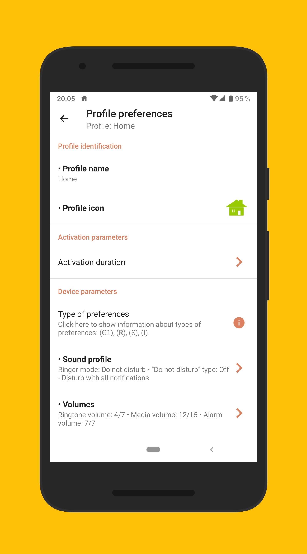 Phone Profiles 3 تصوير الشاشة