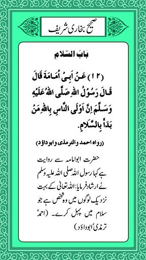 Sahih al-Bukhari Hadith (Urdu) 13 تصوير الشاشة