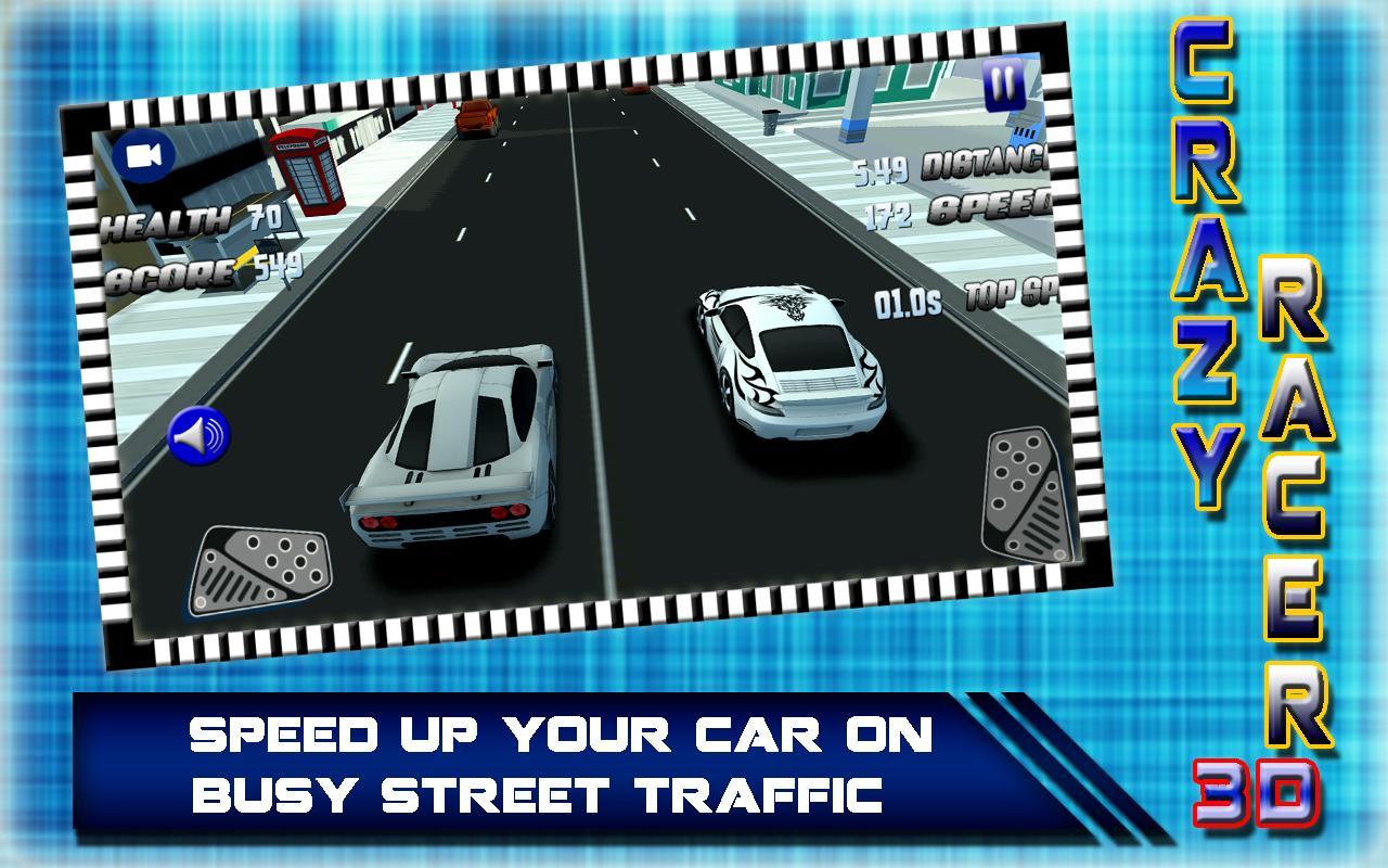 Crazy Car Racing 3D 2017: Rush Hero Driver screenshot 8