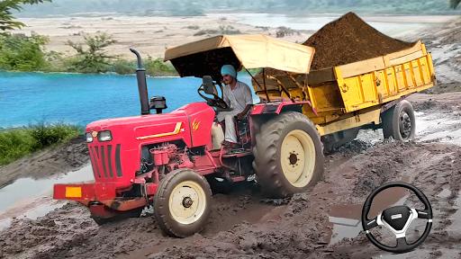 Real Tractor Trolley Cargo Farming Simulation Game screenshot 1