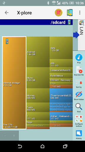 X-plore File Manager 4 تصوير الشاشة