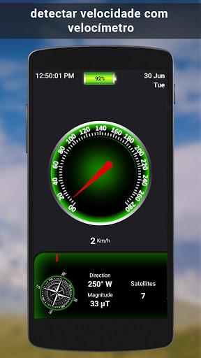 GPS satélite - viver terra mapas E voz navegação screenshot 7