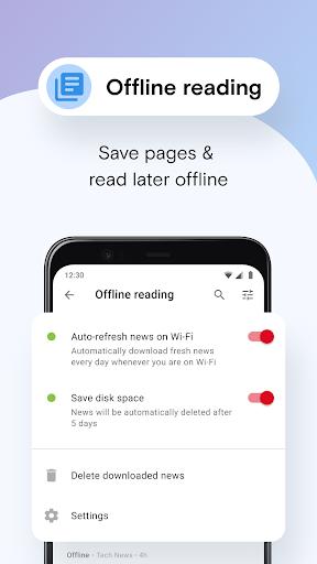 Opera Mini 베타 웹 브라우저 screenshot 8