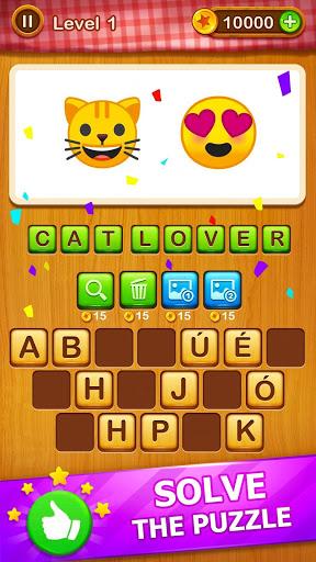 2 Emoji 1 Word - Guess Emoji Word Games Puzzle 1 تصوير الشاشة