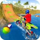 Water Surfer Motorbike Stunts on 9Apps