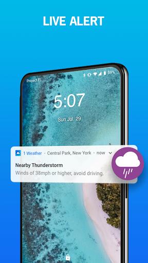 1Weather: Forecasts, Widgets, Snow Alerts & Radar 6 تصوير الشاشة