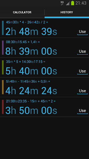 Time Calc screenshot 4