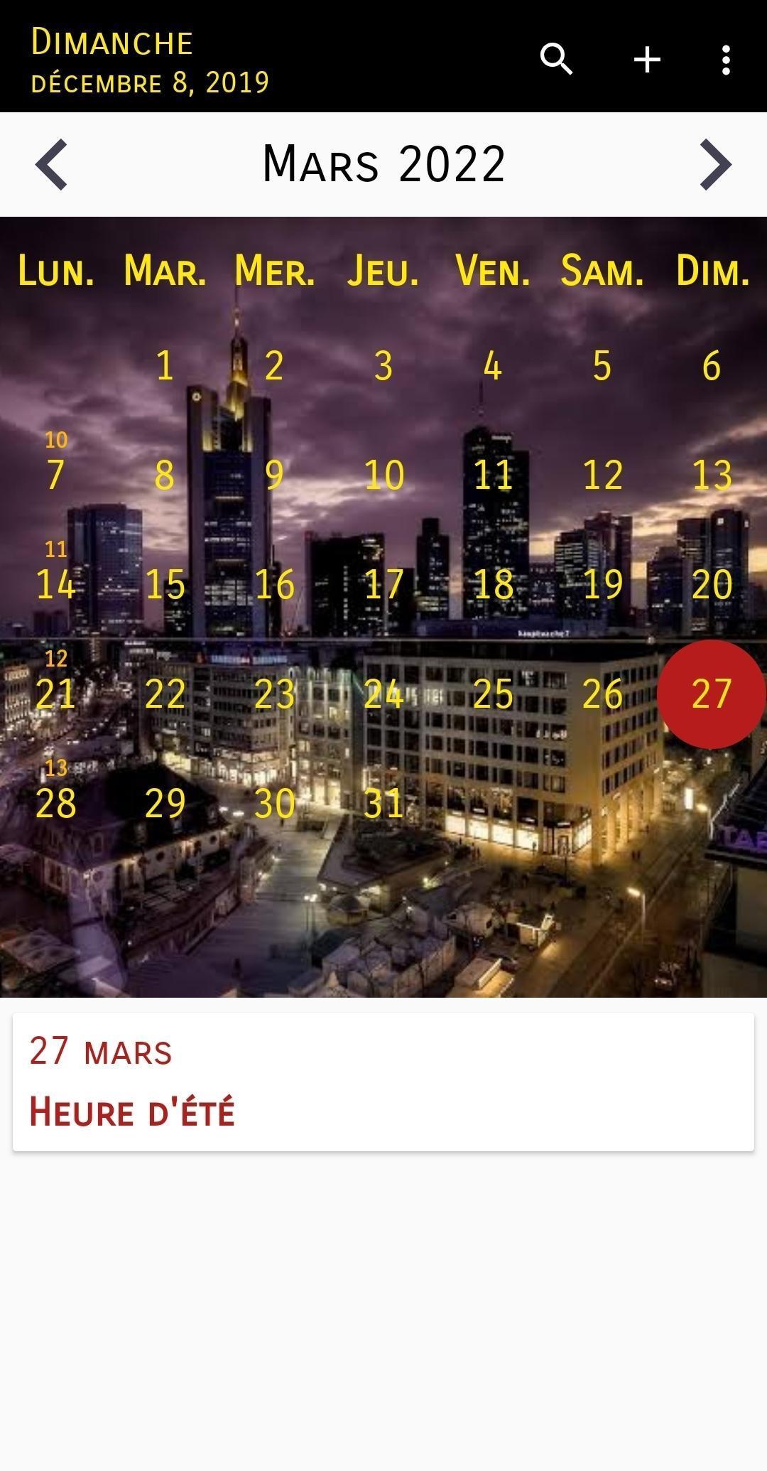 Calendrier 2020 Français screenshot 2