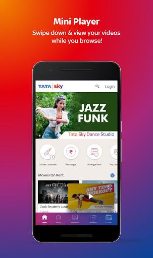 Tata Sky Mobile- Live TV, Movies, Sports, Recharge скриншот 2