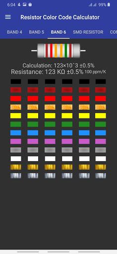 Resistor Color Code Calculator with SMD Resistor screenshot 3