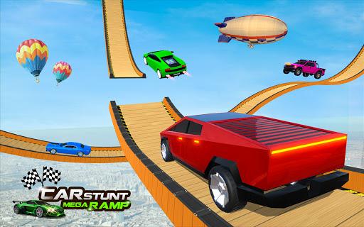 Ramp Car Stunt Jumping-Top Speed Mega Ramp Racing 4 تصوير الشاشة